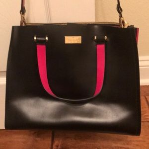 Authentic Kate Spade Pink and Black Tote
